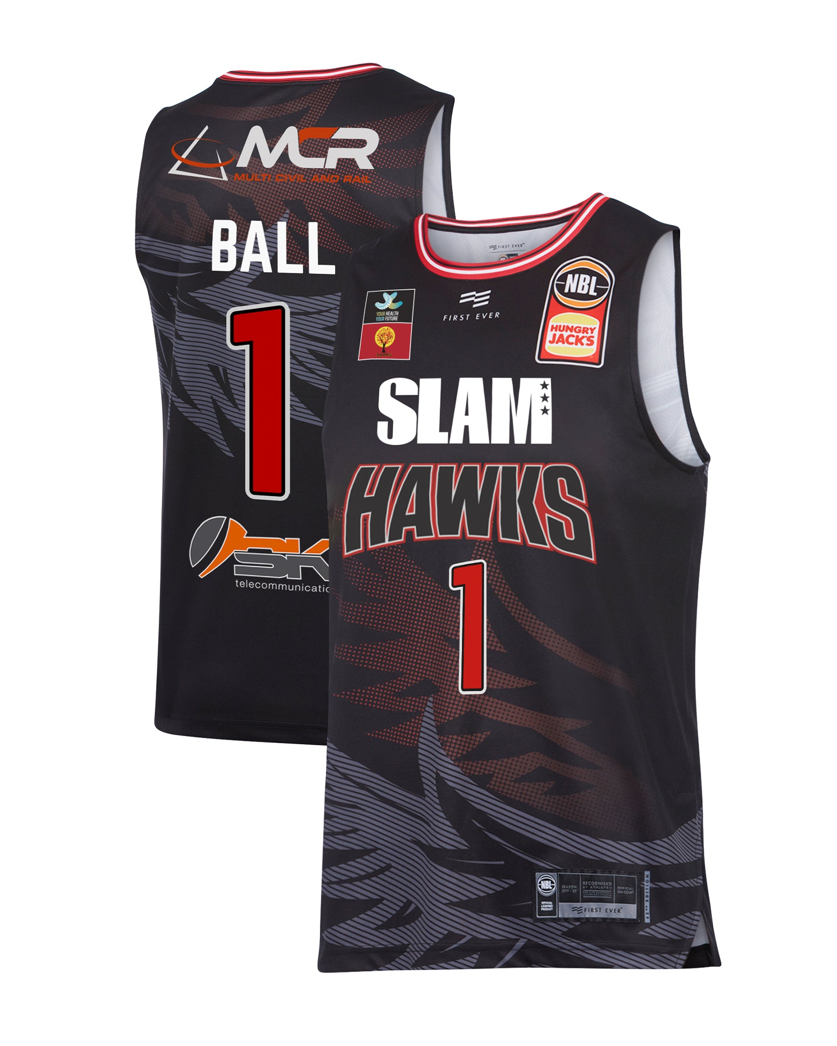 Illawarra Hawks 19/20 Authentic Home Jersey - LaMelo Ball (with SLAM)
