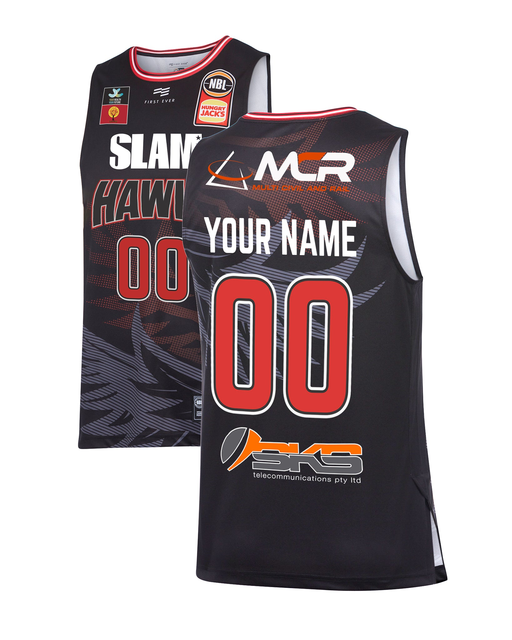 Personalised Illawarra Hawks 19/20 Authentic Home Jersey (with SLAM)