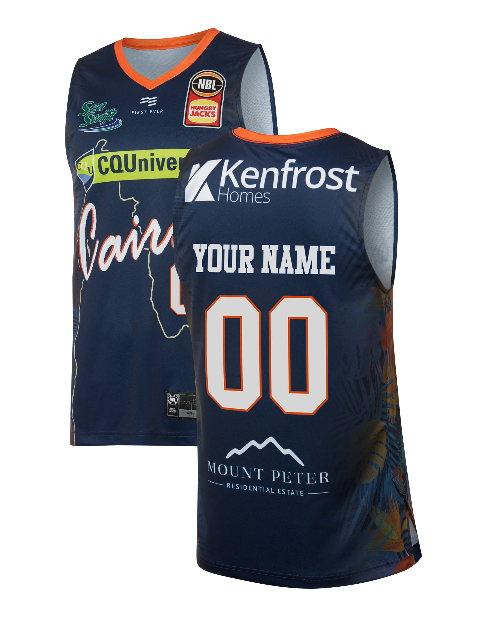 Personalised Cairns Taipans 19/20 Authentic City Jersey