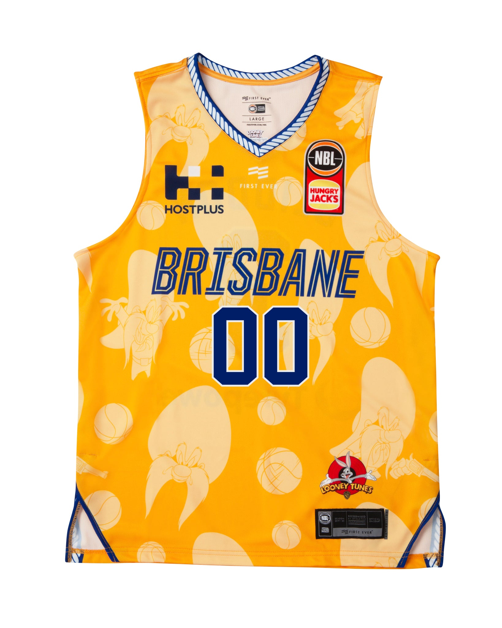 Personalised Brisbane Bullets 19/20 Looney Tunes Jersey
