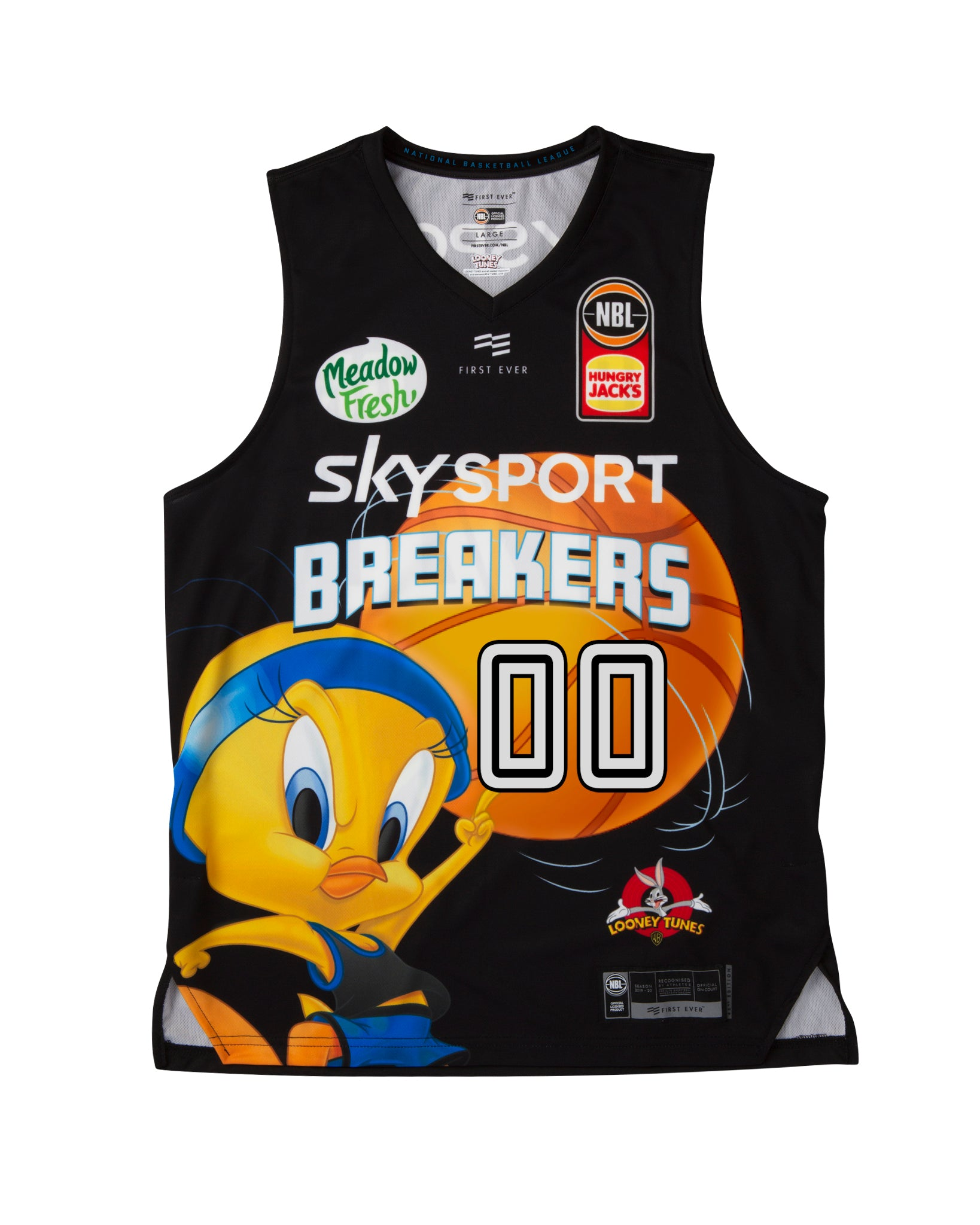 Personalised New Zealand Breakers 19/20 Looney Tunes Jersey