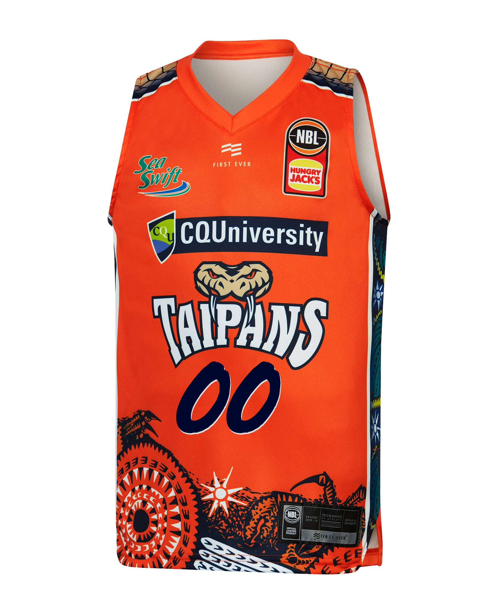Personalised Cairns Taipans 19/20 Youth Indigenous Jersey