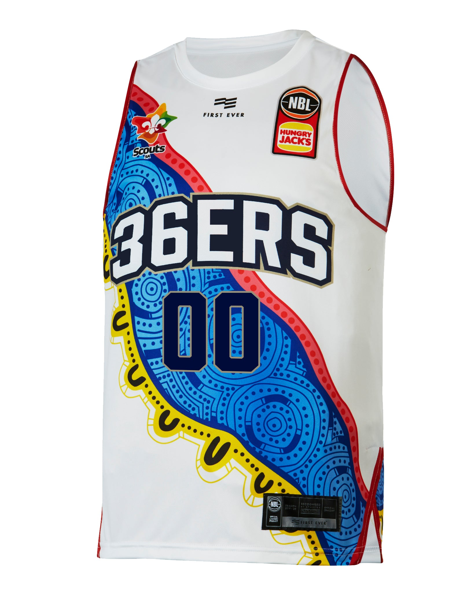 Personalised Adelaide 36ers 19/20 Indigenous Jersey