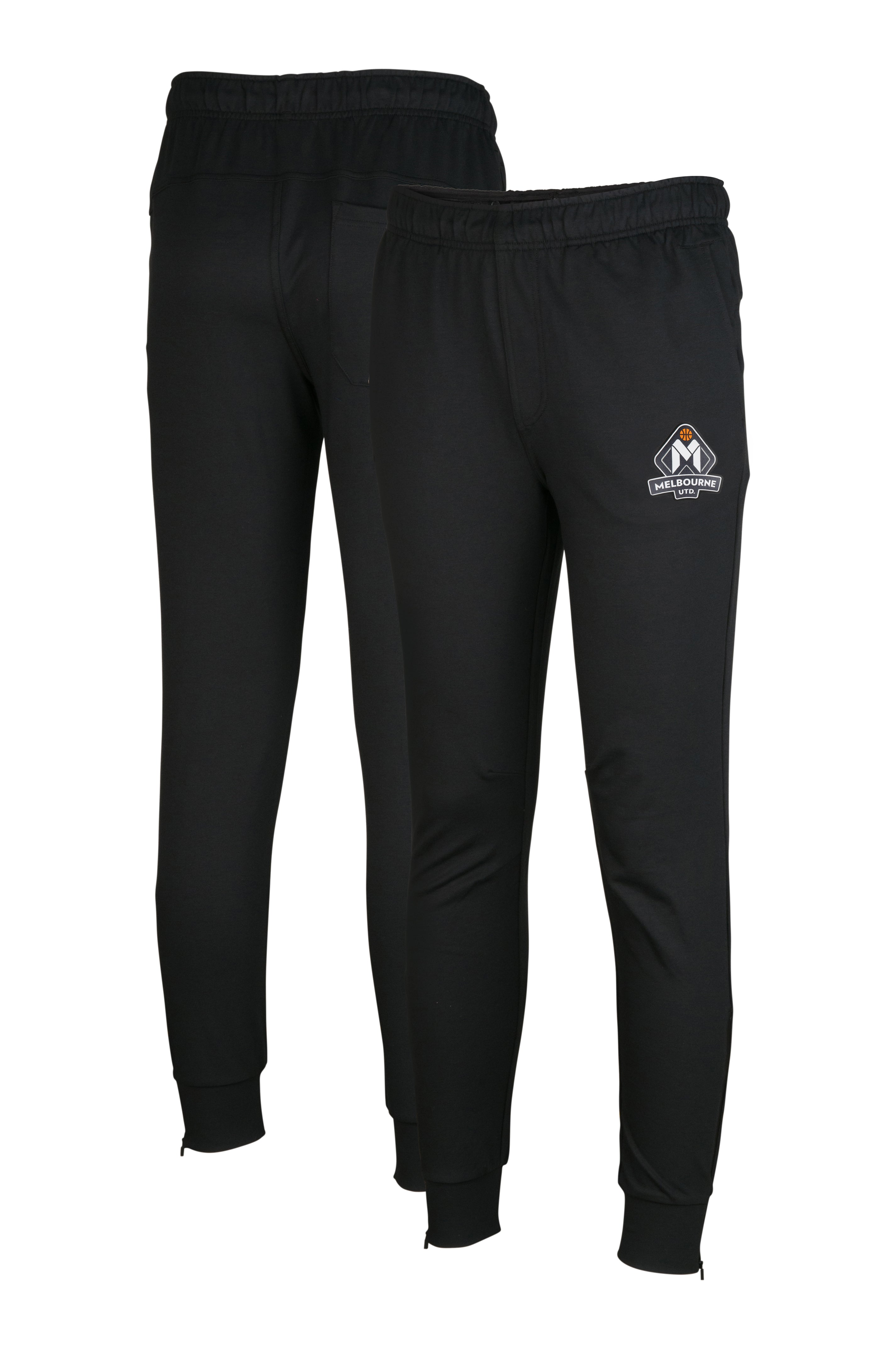 melbourne-united-performance-trackpant - Front and Back Image
