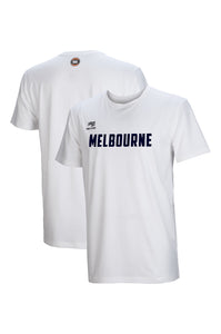 melbourne-united-wordmark-lifestyle-tee - Front and Back Image