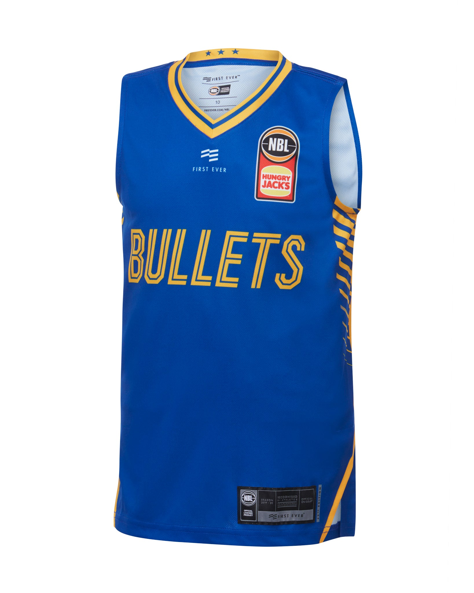 Brisbane Bullets 19/20 Youth Authentic Home Jersey