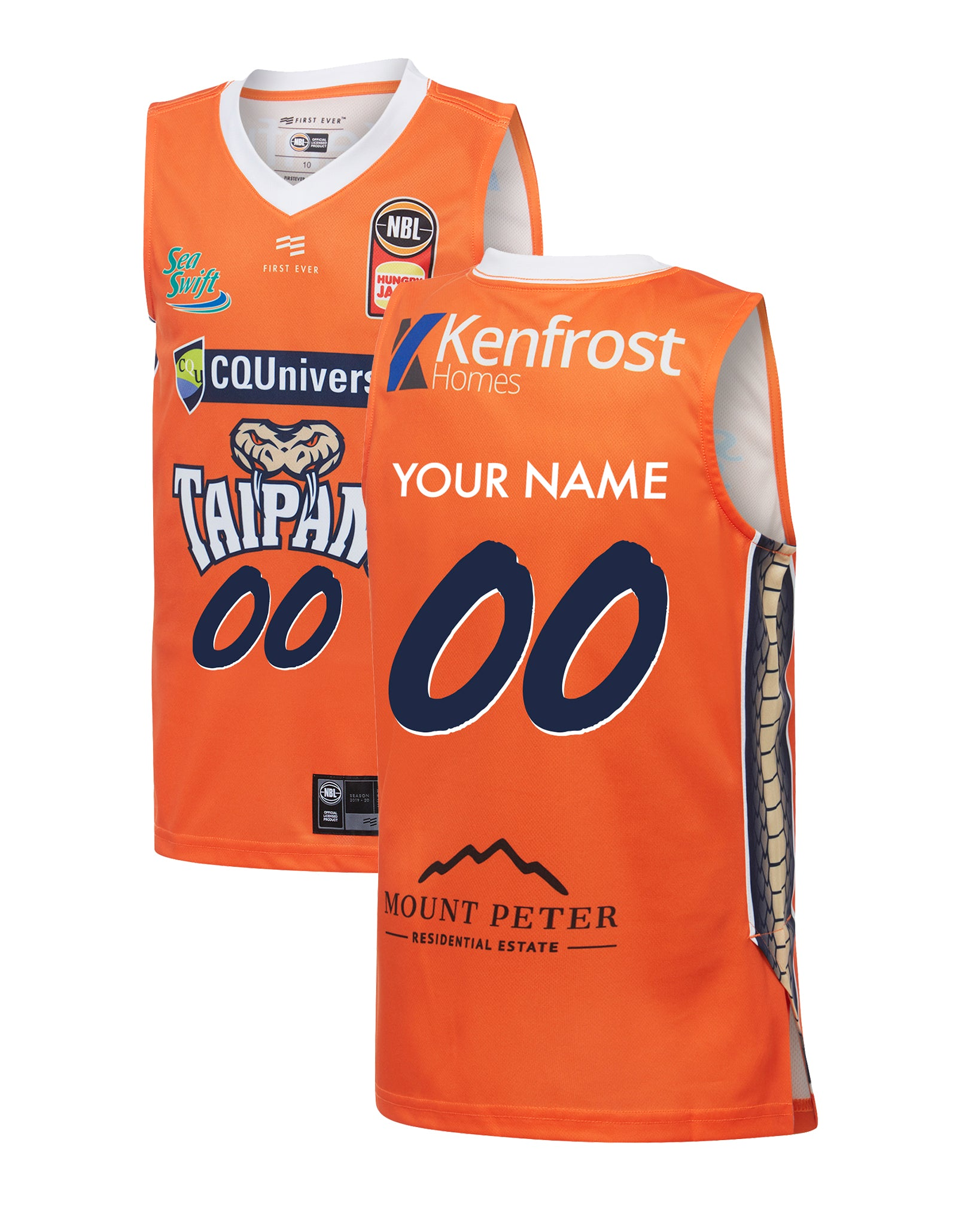 Personalised Cairns Taipans 19/20 Youth Authentic Home Jersey