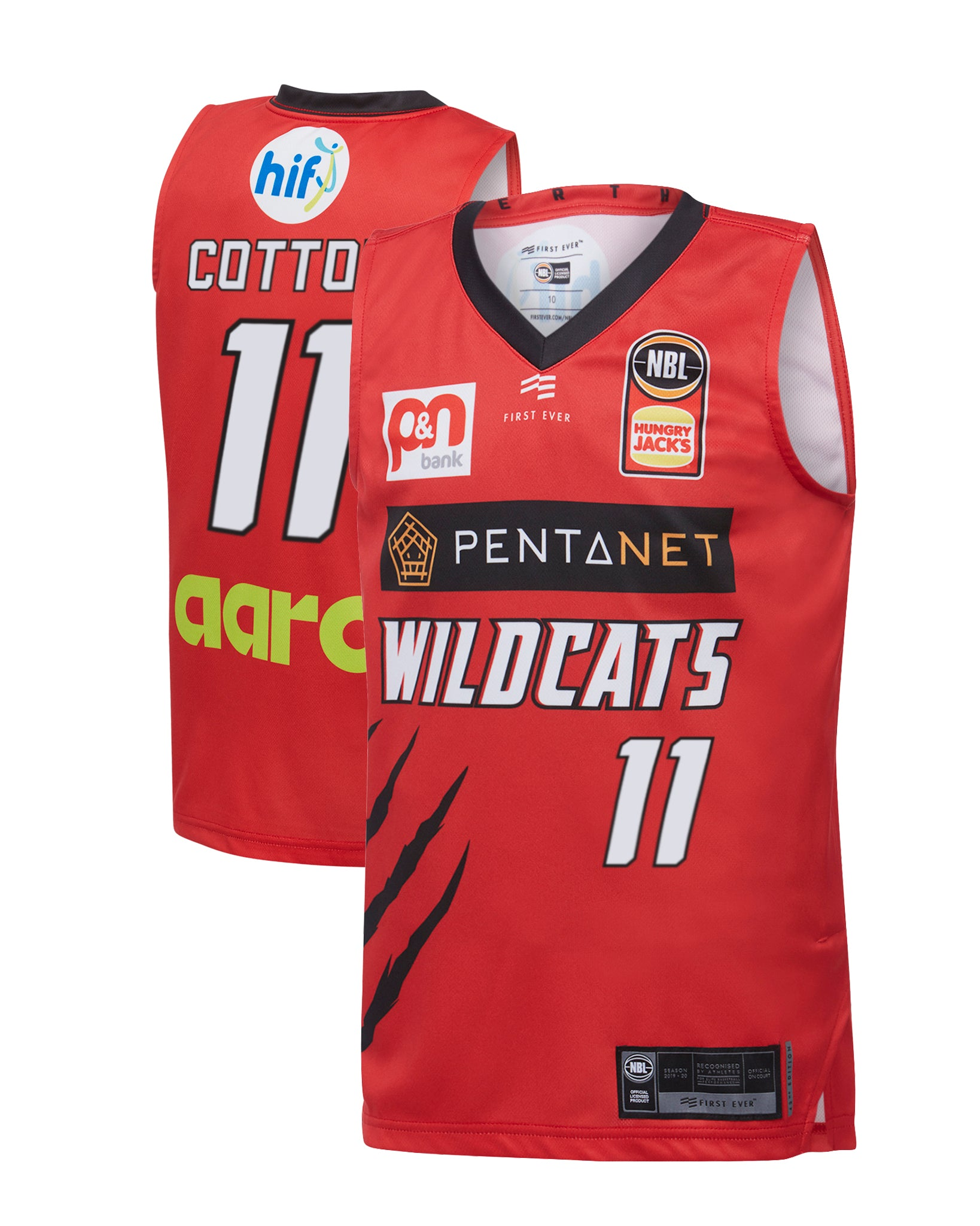 Perth Wildcats 19/20 Youth Authentic Home Jersey - Bryce Cotton
