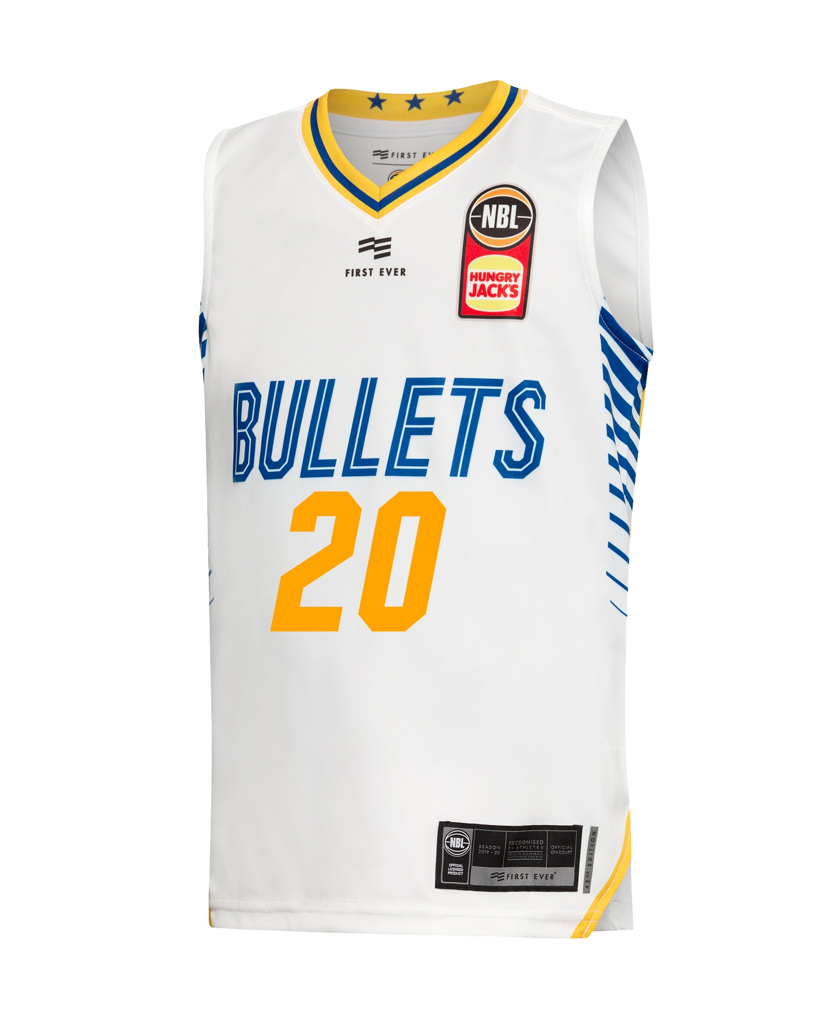 Brisbane Bullets 19/20 Youth Authentic Away Jersey - Nathan Sobey