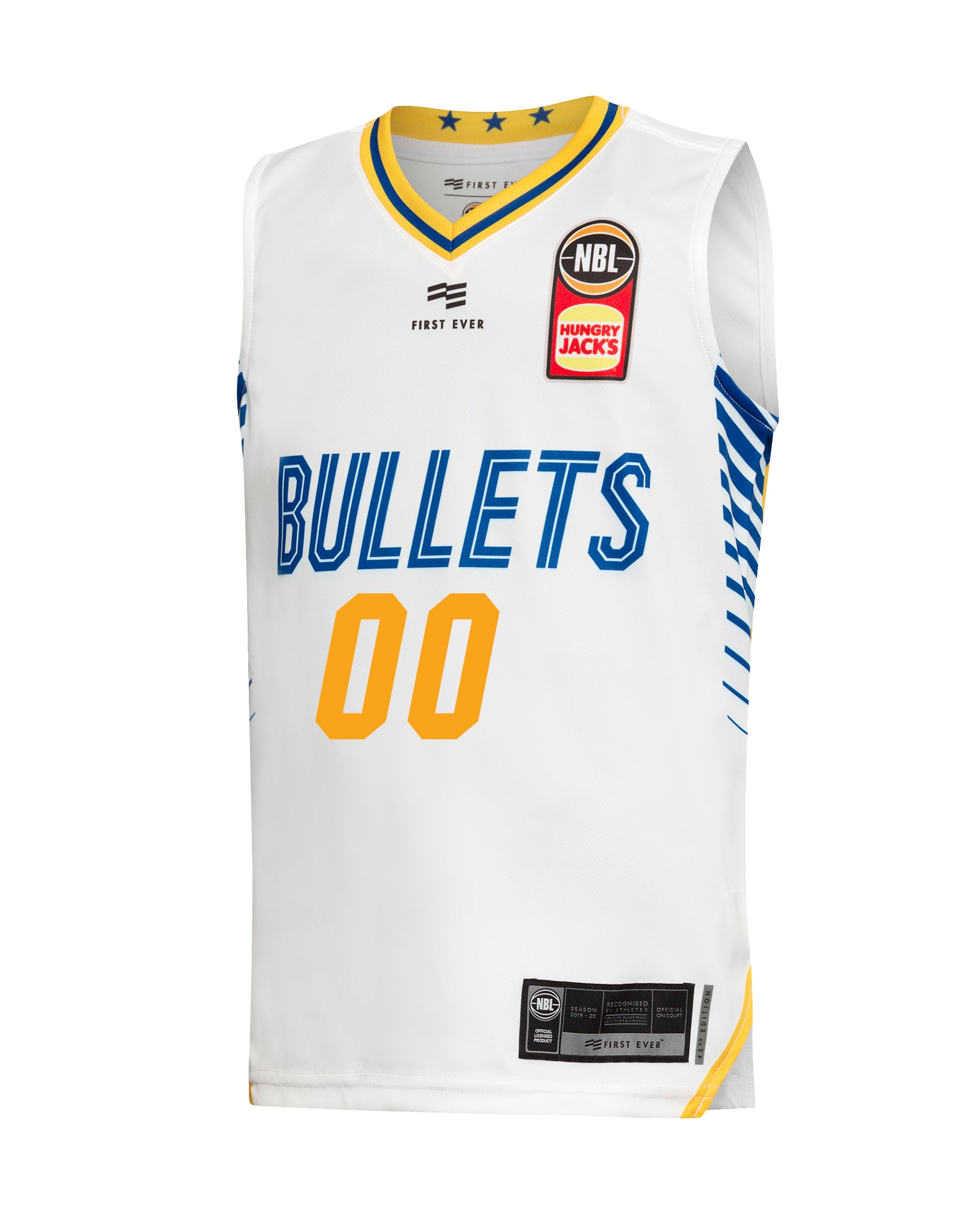 Personalised Brisbane Bullets 19/20 Youth Authentic Away Jersey