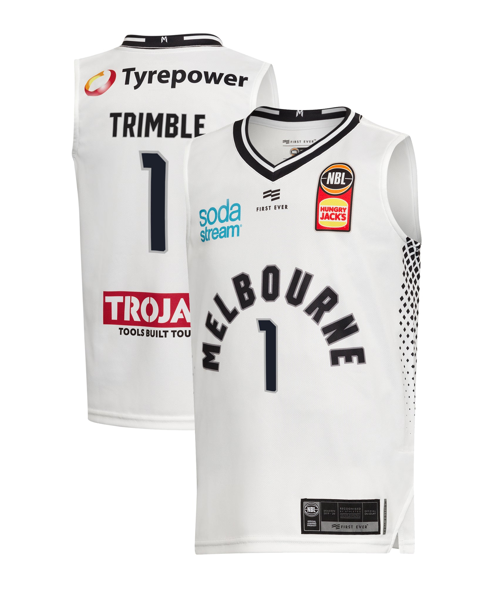Melbourne United 19/20 Youth Authentic Away Jersey - Melo Trimble