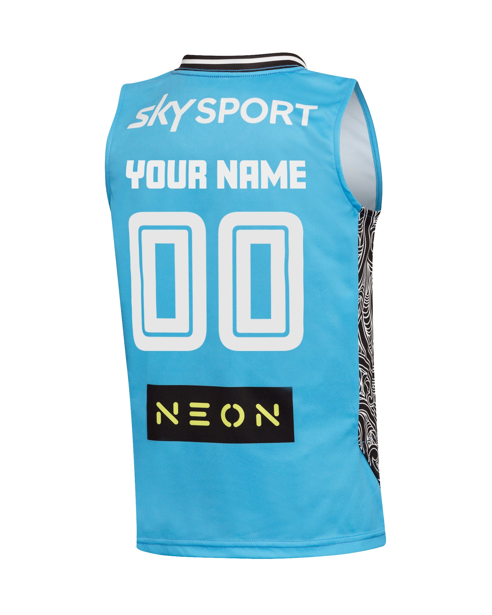 Personalised New Zealand Breakers 19/20 Youth Authentic Away Jersey