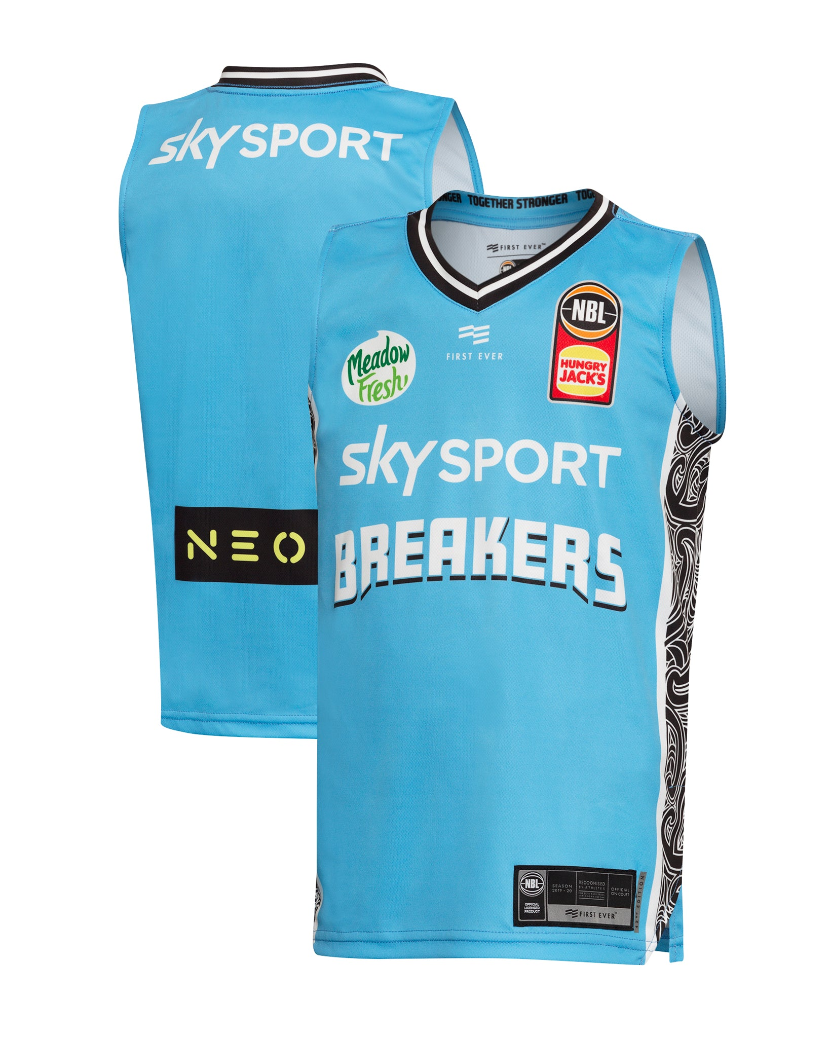 New Zealand Breakers 19/20 Youth Authentic Away Jersey