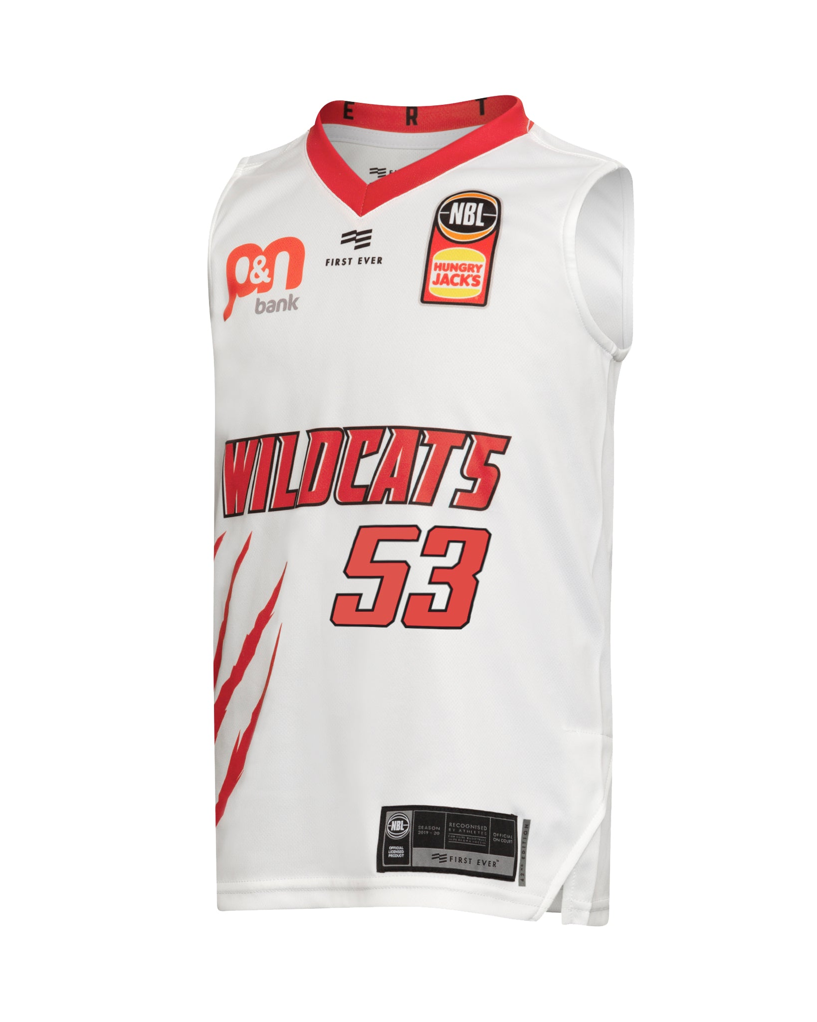 Perth Wildcats 19/20 Youth Authentic Away Jersey - Damian Martin
