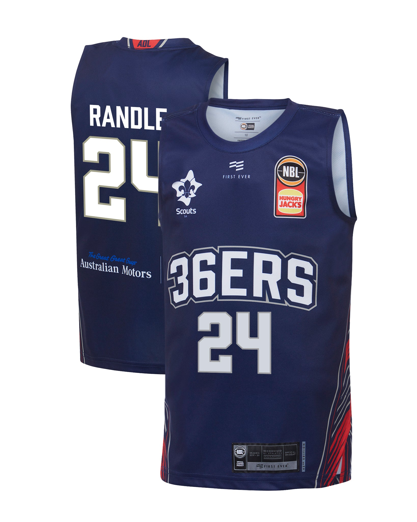 Adelaide 36ers 19/20 Youth Authentic Home Jersey - Jerome Randle