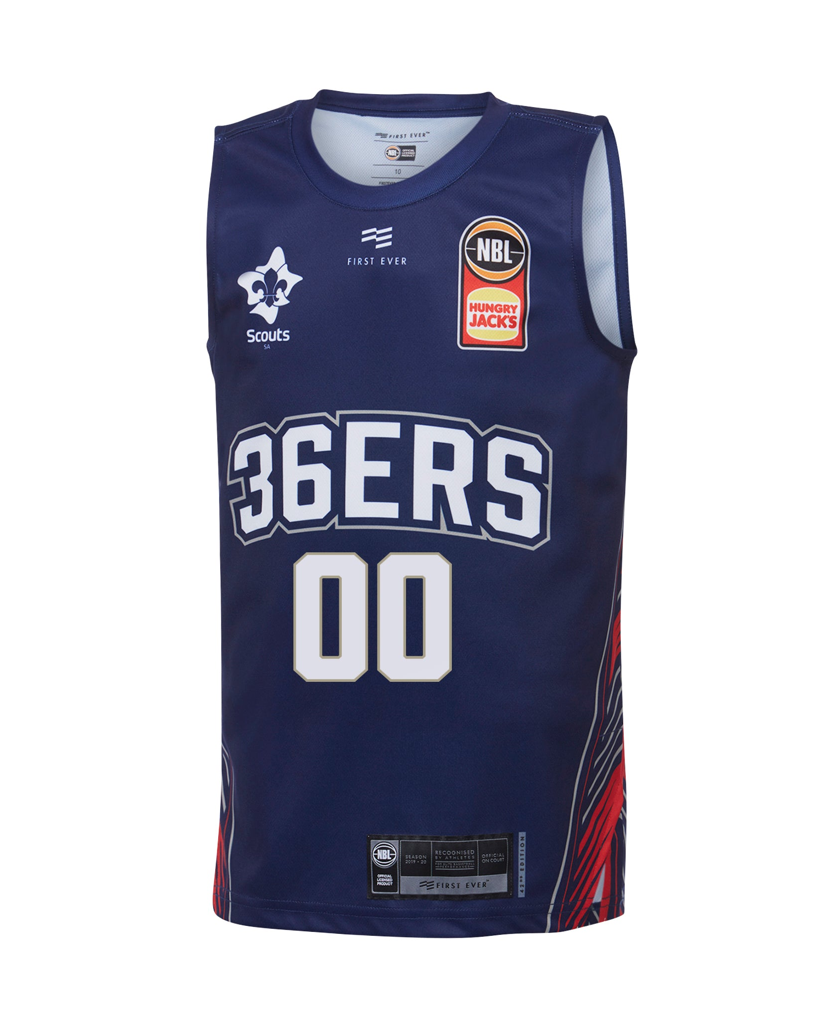 Personalised Adelaide 36ers 19/20 Youth Authentic Home Jersey