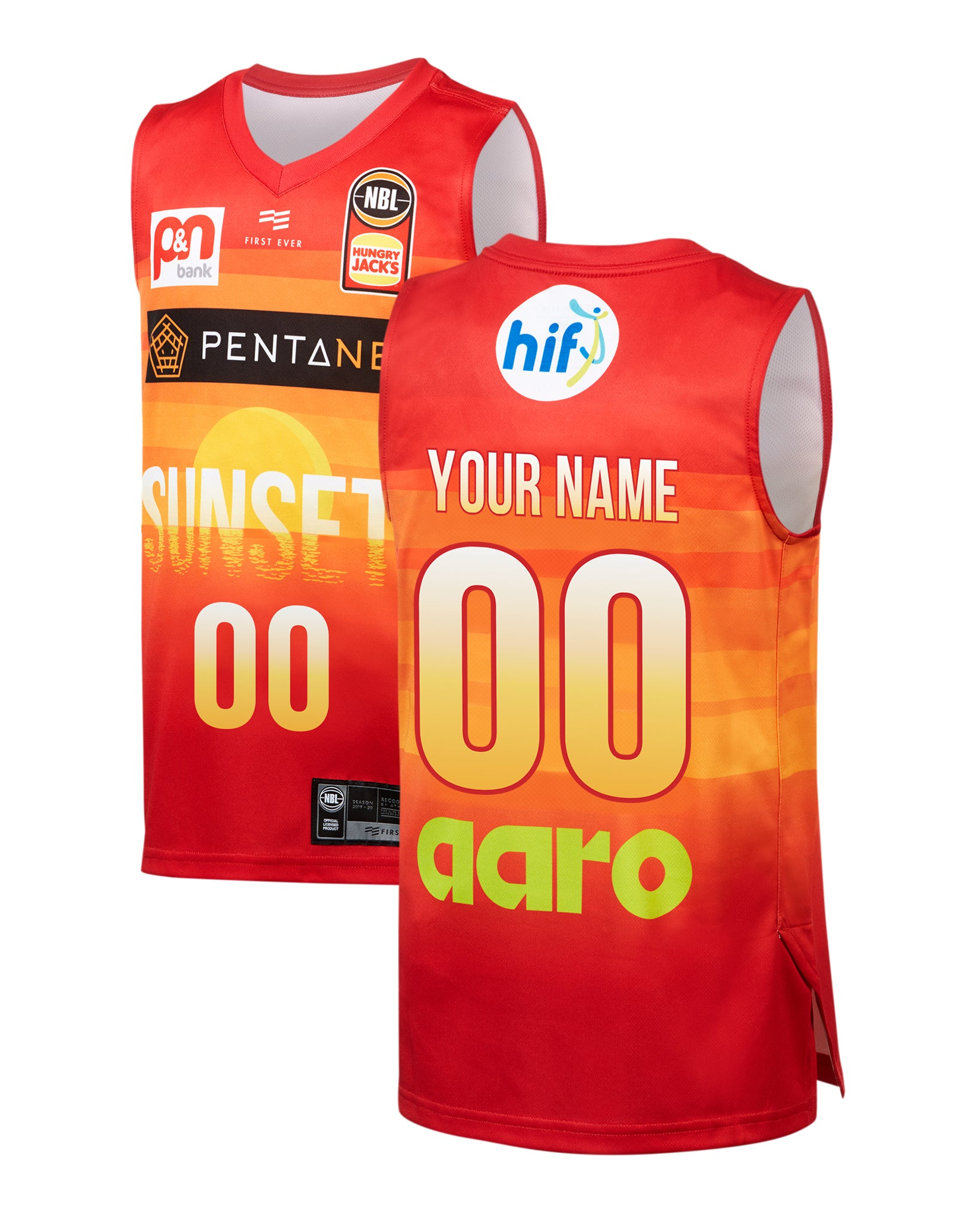 Personalised Perth Wildcats 19/20 Youth Authentic City Jersey