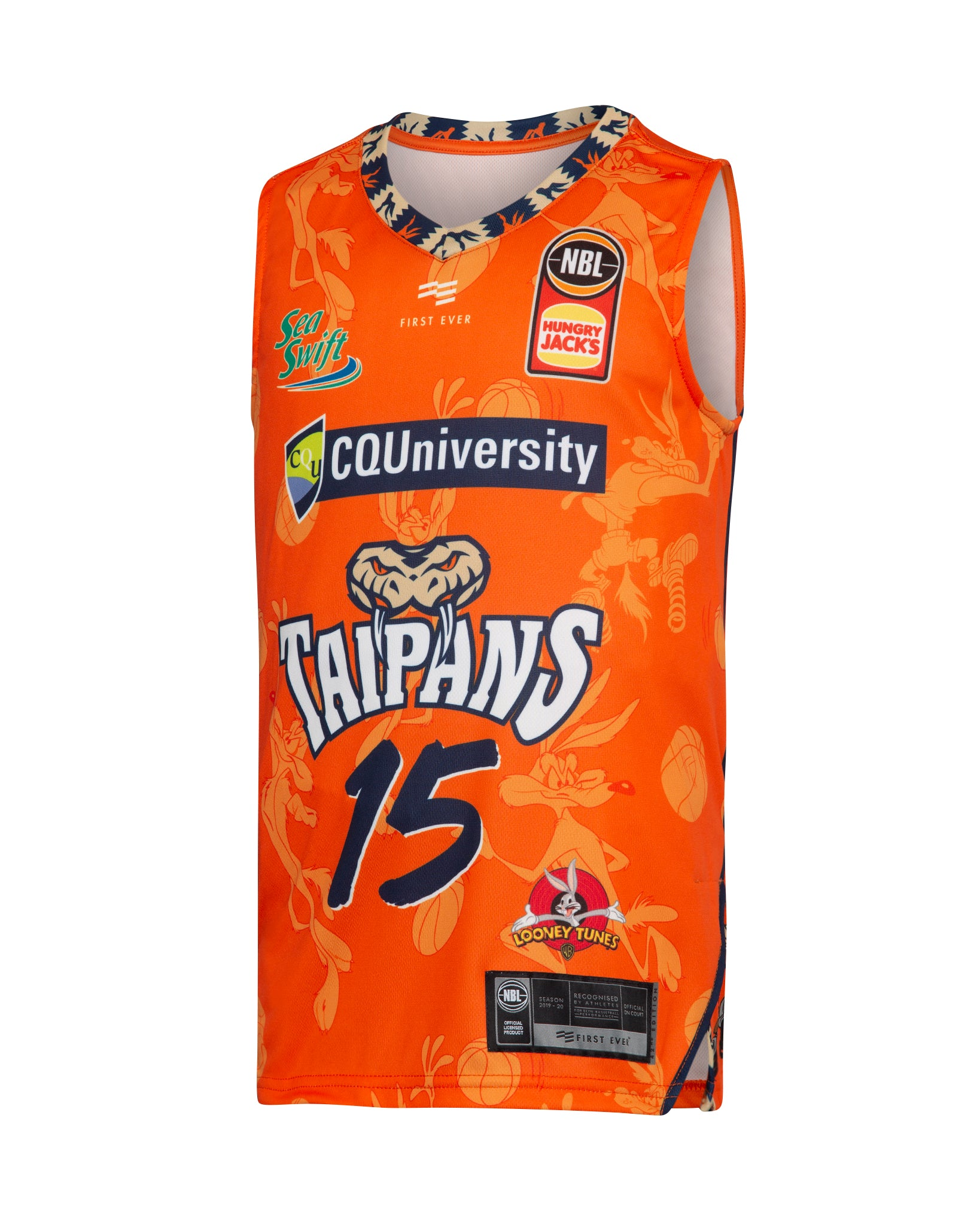 Cairns Taipans 19/20 Youth Looney Tunes Jersey - Nate Jawai