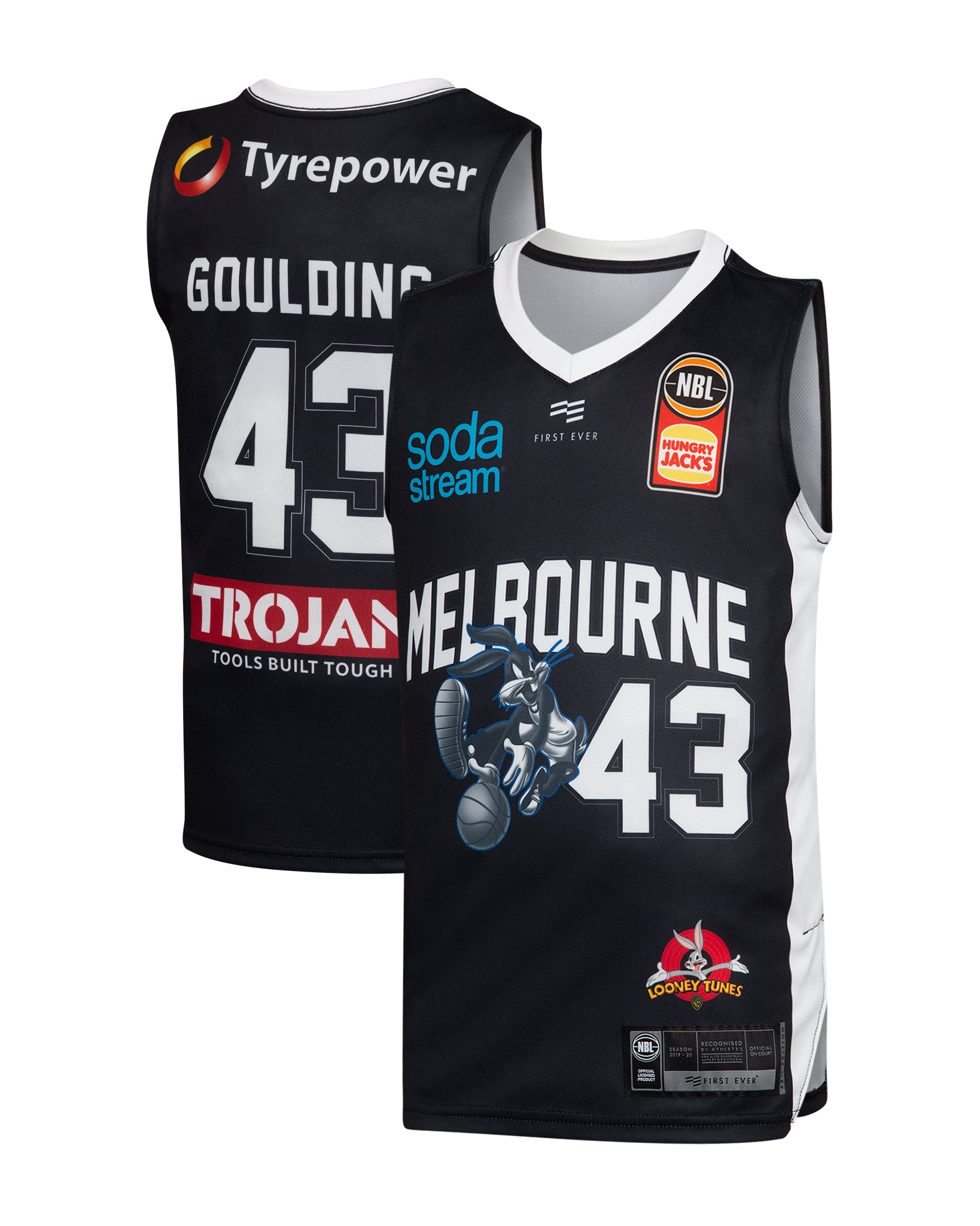Melbourne United 19/20 Youth Looney Tunes Jersey - Chris Goulding