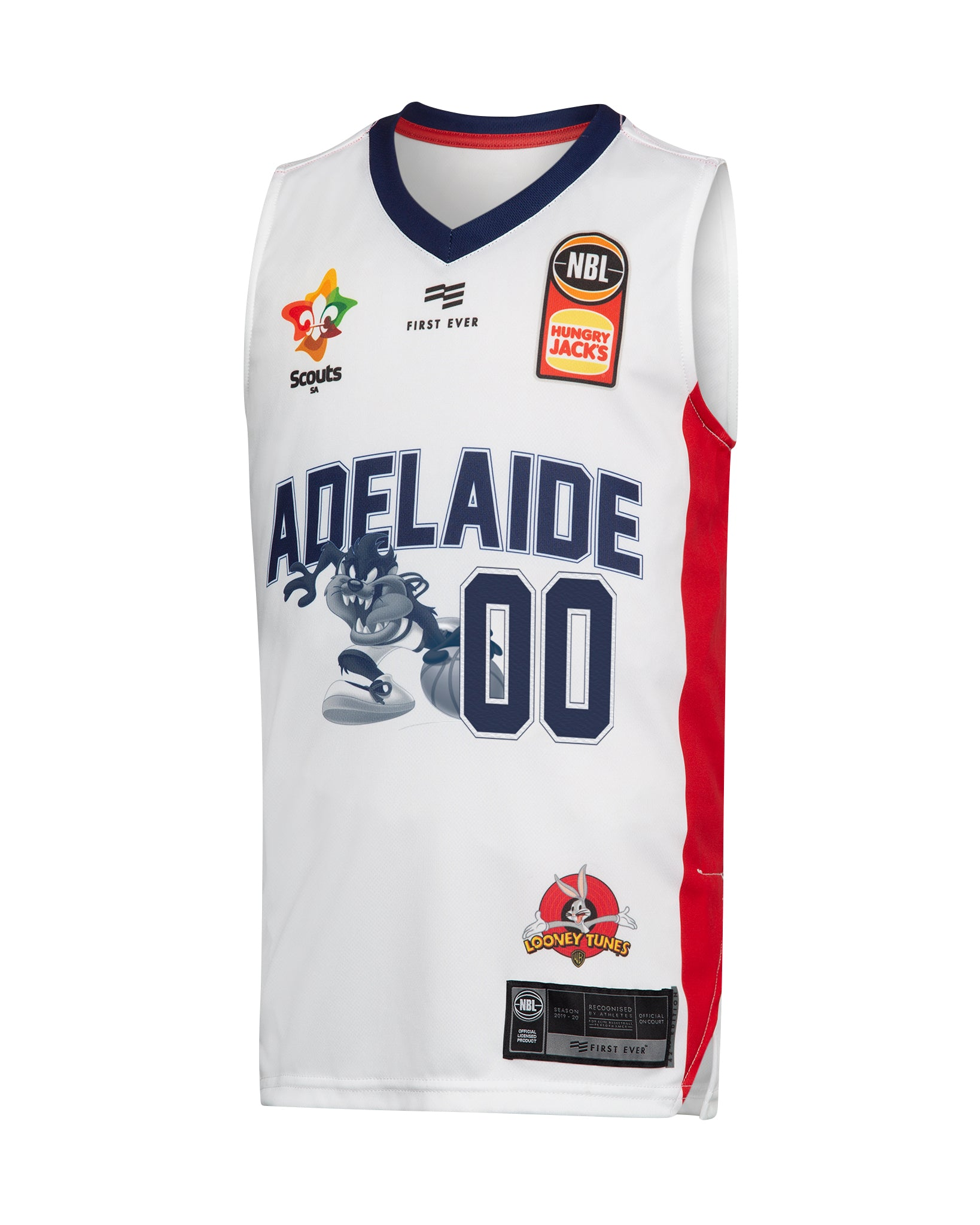 Personalised Adelaide 36ers 19/20 Youth Looney Tunes Jersey