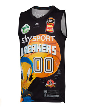 Personalised New Zealand Breakers 19/20 Youth Looney Tunes Jersey