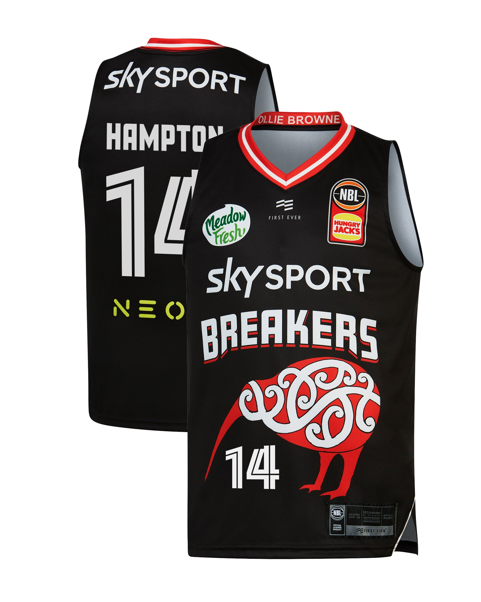 New Zealand Breakers 19/20 Youth Indigenous Jersey - RJ Hampton