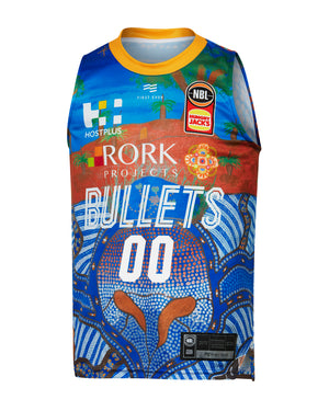 Personalised Brisbane Bullets 19/20 Youth Indigenous Jersey