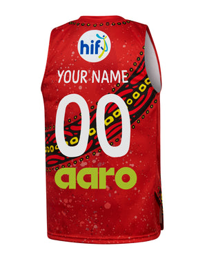 Personalised Perth Wildcats 19/20 Youth Indigenous Jersey