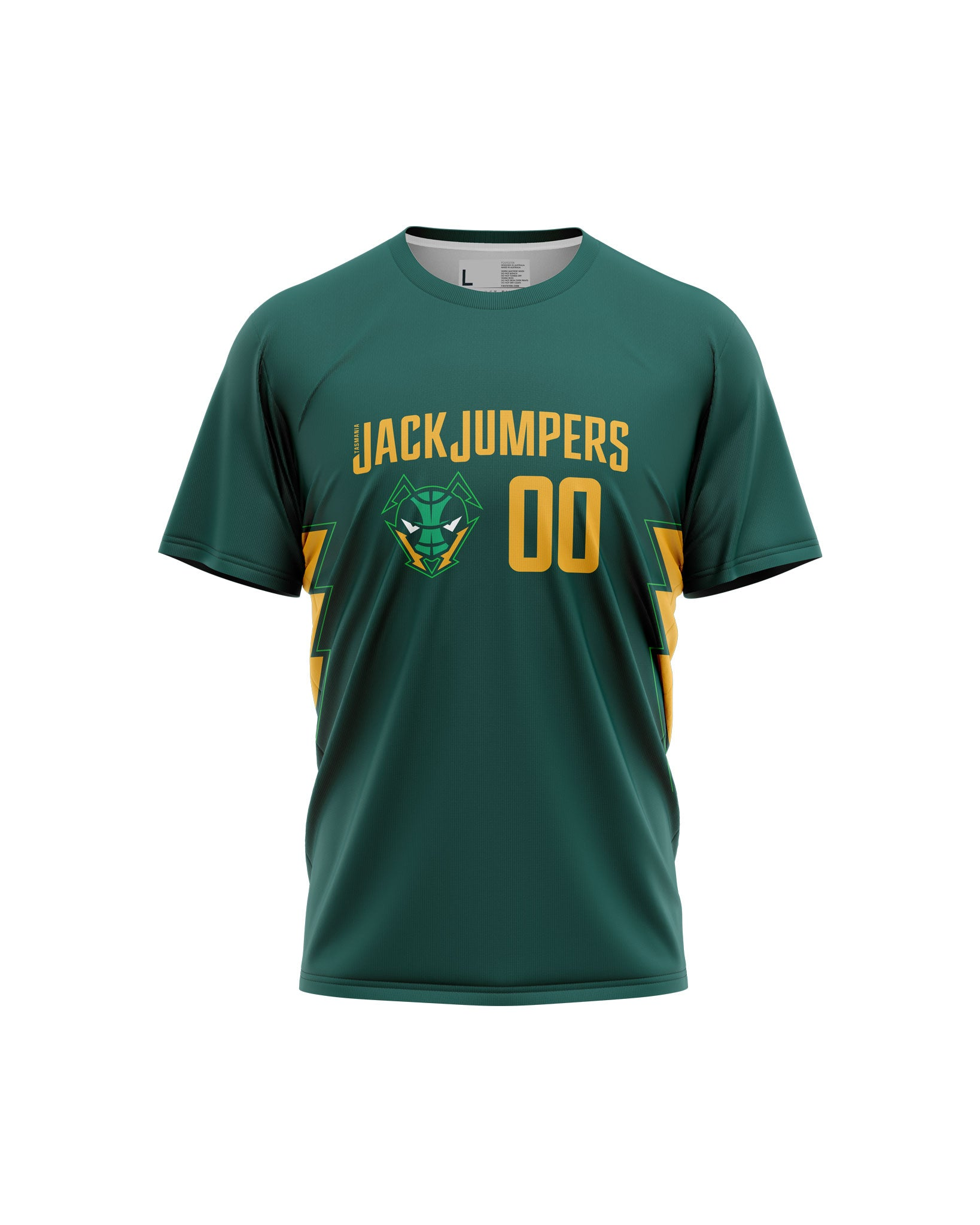 Tasmania JackJumpers Wordmark Tee - Personalised