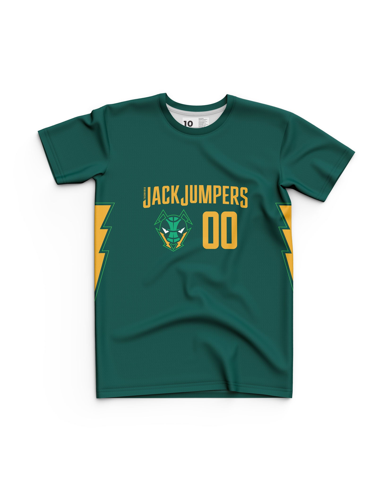 Tasmania JackJumpers Youth Wordmark Tee - Personalised
