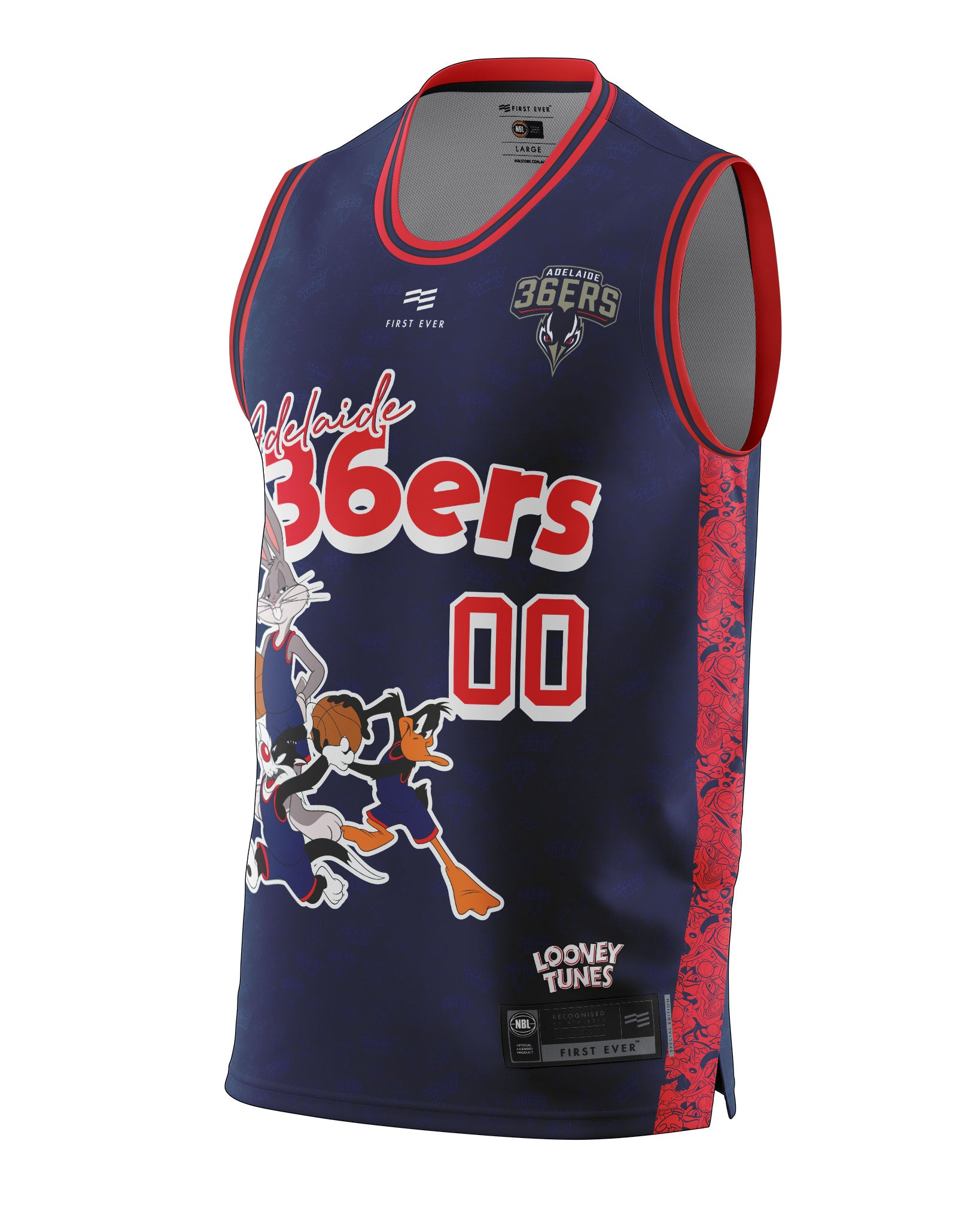 Adelaide 36ers 20/21 Looney Tunes Fan Jersey - Personalised