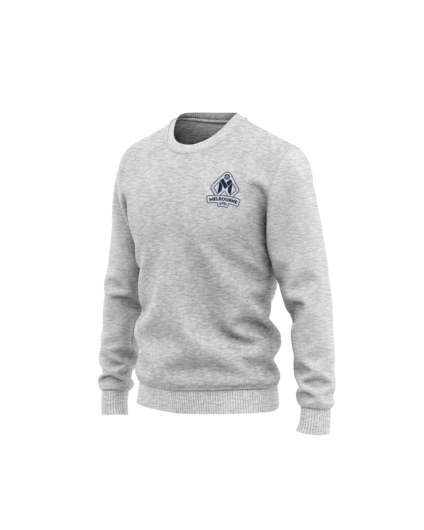 Melbourne United 20/21 Crew Neck Sweatshirt Grey