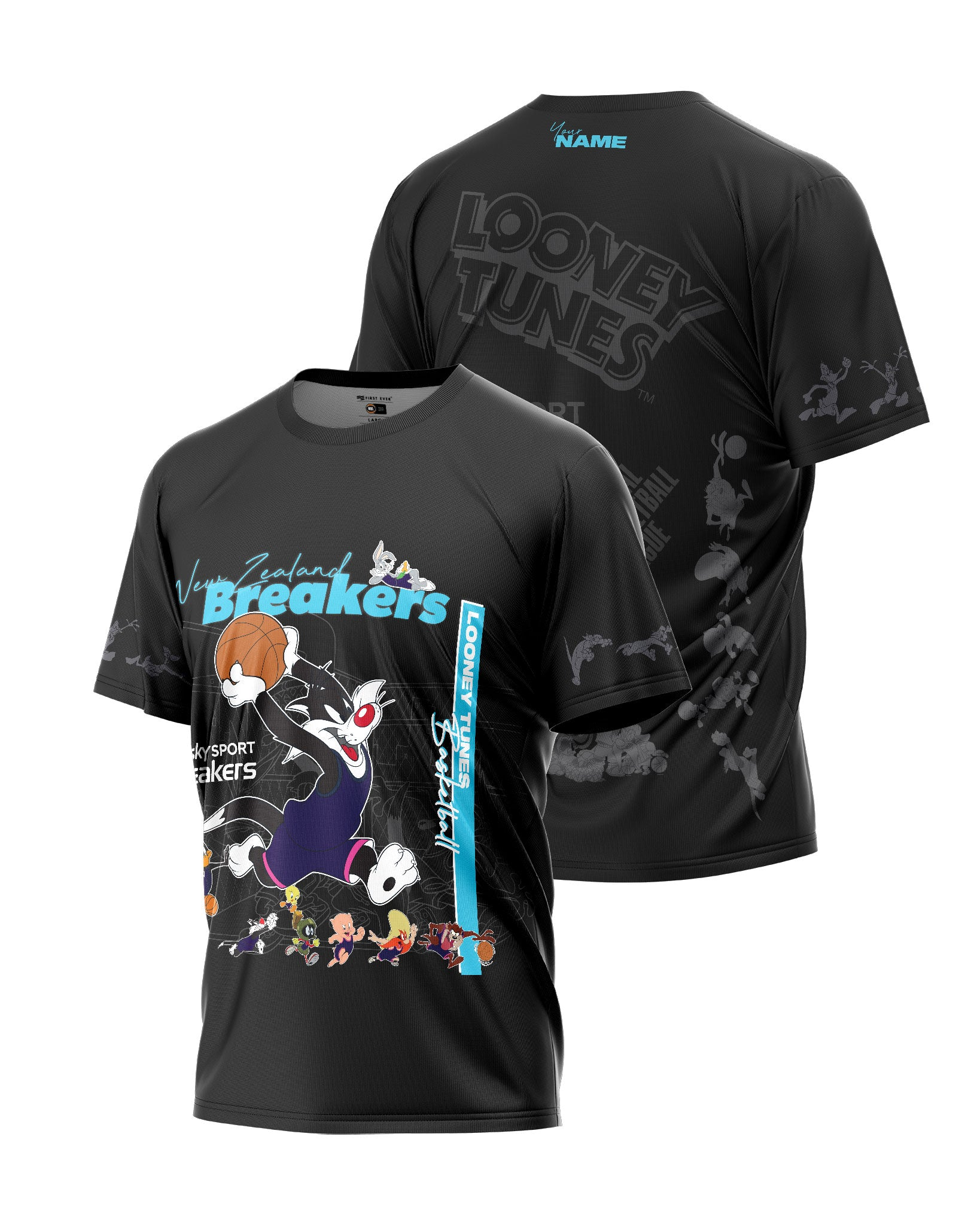 New Zealand Breakers 20/21 Looney Tunes Mono Tee - Personalised