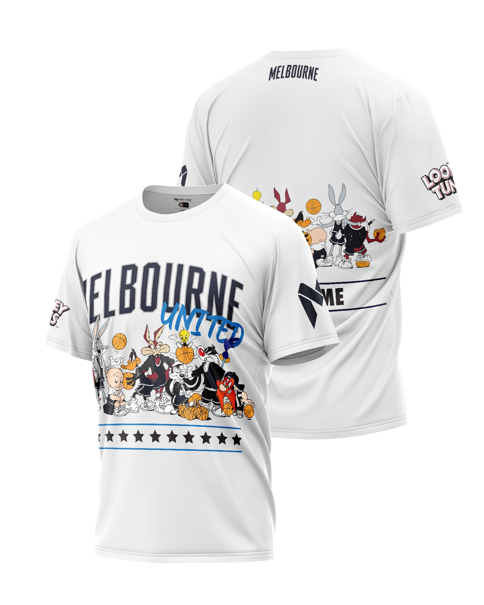 Melbourne United 20/21 Looney Tunes Squad Tee - Personalised