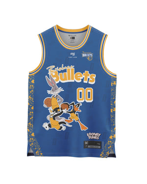Brisbane Bullets 20/21 Looney Tunes Youth Fan Jersey - Personalised