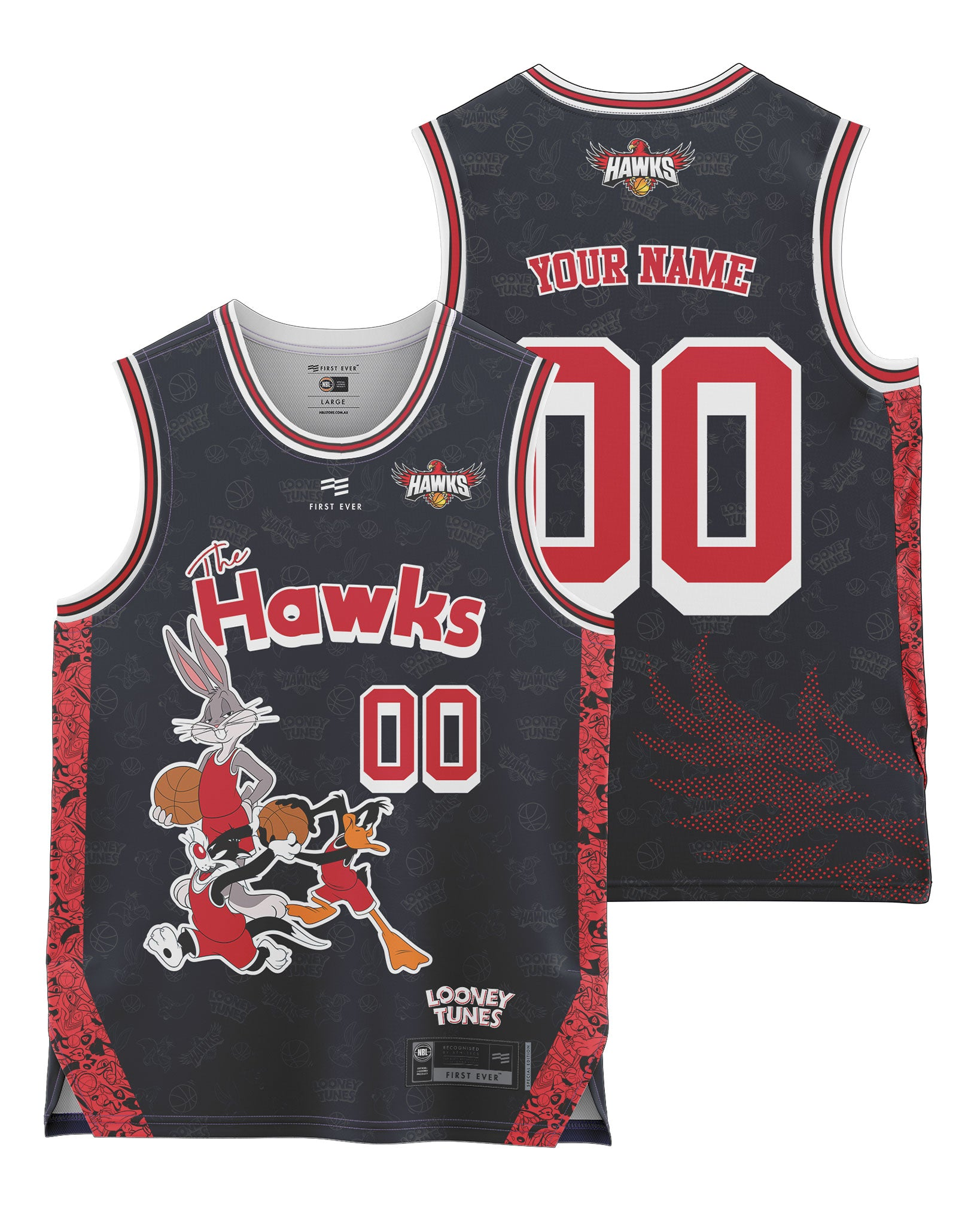 Hawks 20/21 Looney Tunes Youth Fan Jersey - Personalised