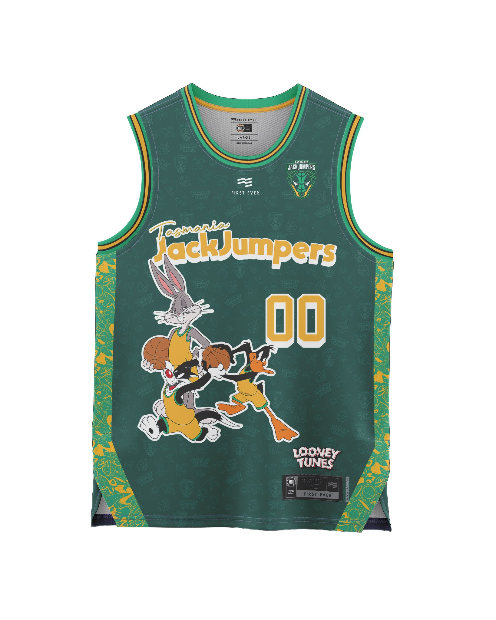 Tasmania JackJumpers 20/21 Looney Tunes Youth Fan Jersey - Personalised