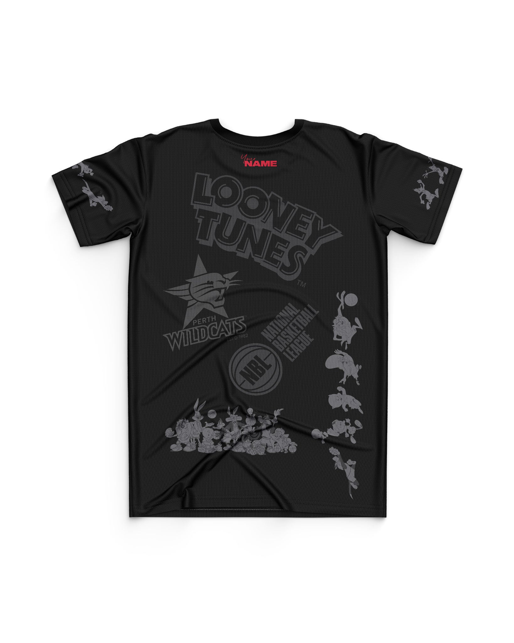 Perth Wildcats 20/21 Looney Tunes Youth Mono Tee - Personalised