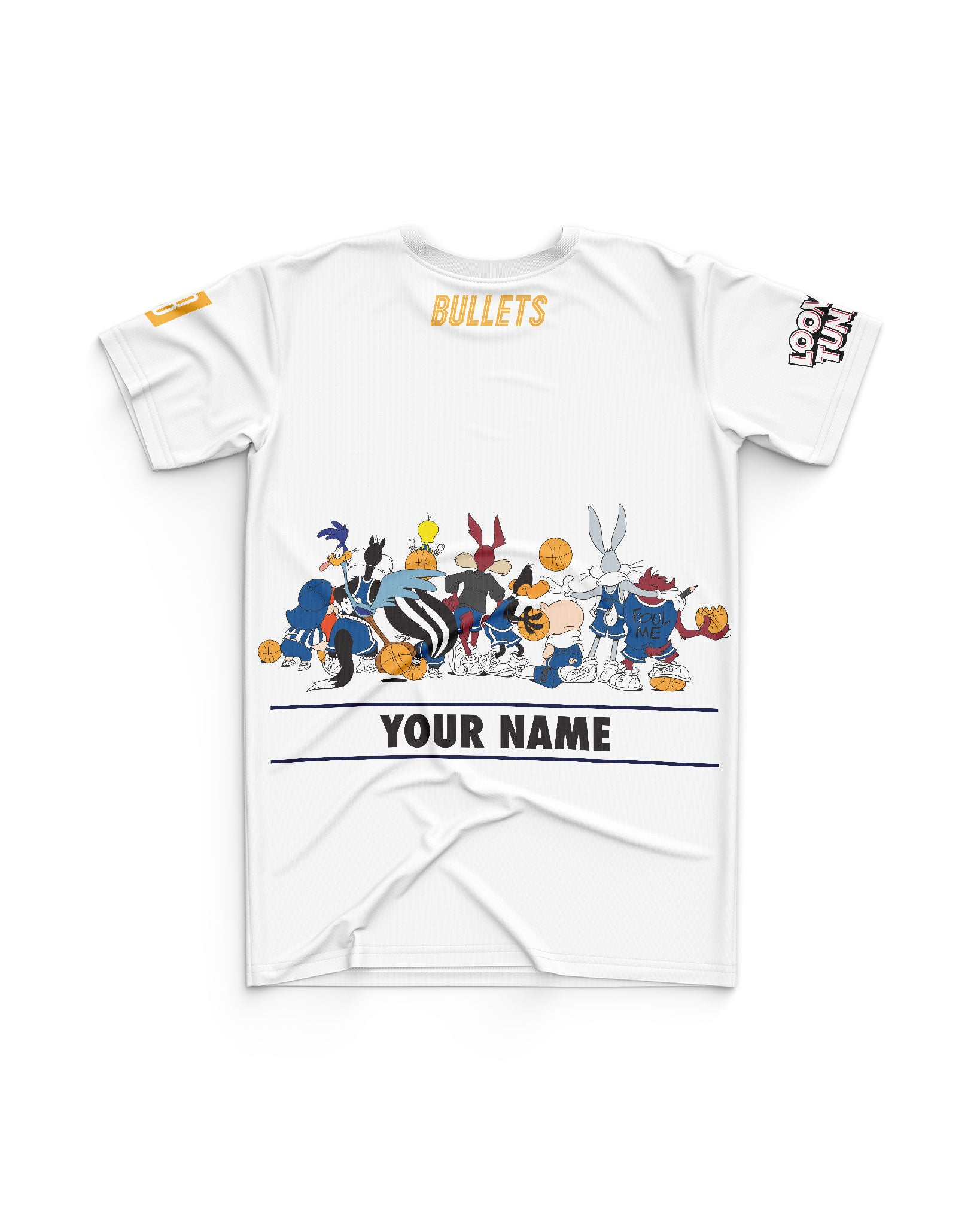 Brisbane Bullets 20/21 Looney Tunes Youth Squad Tee - Personalised