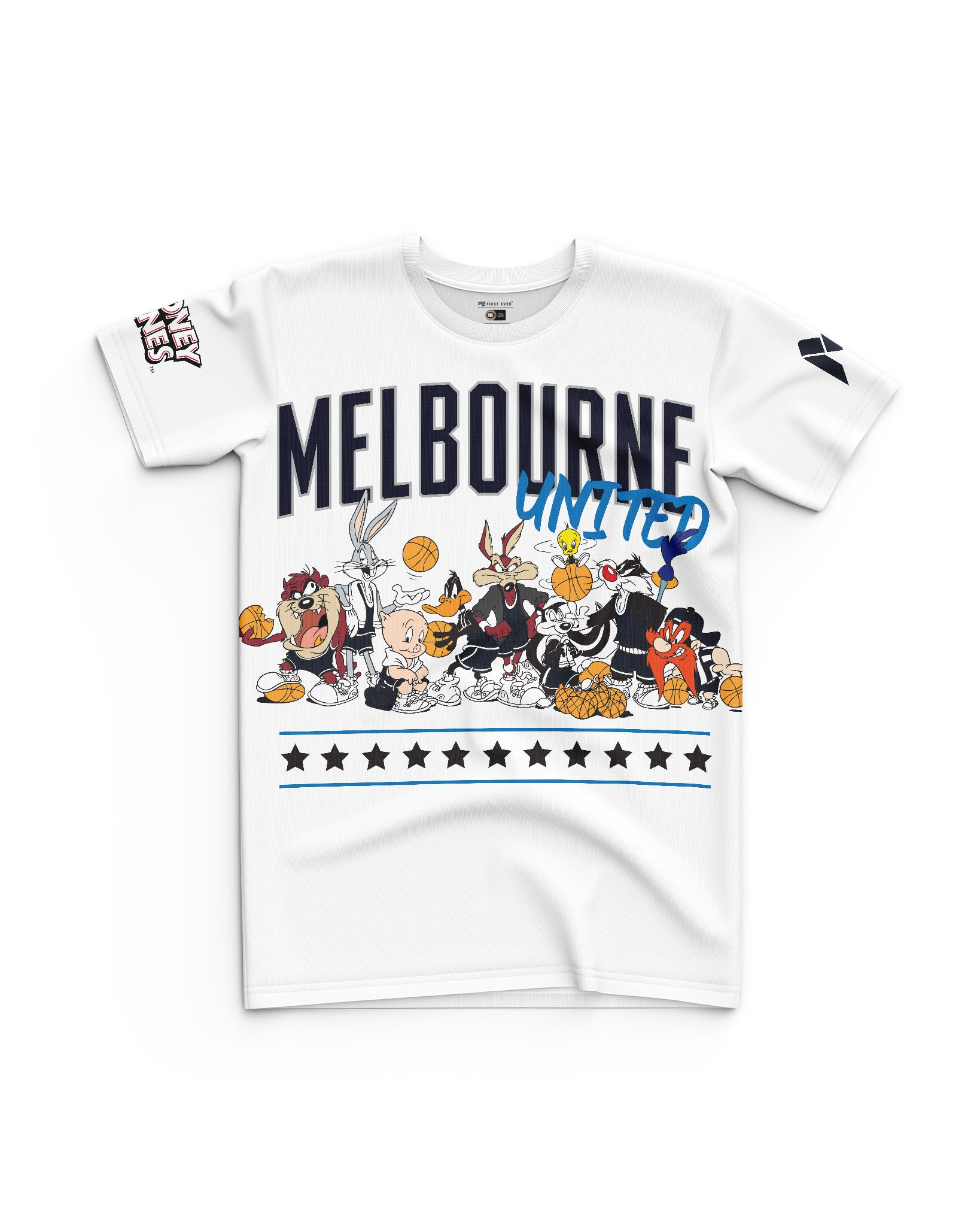 Melbourne United 20/21 Looney Tunes Youth Squad Tee