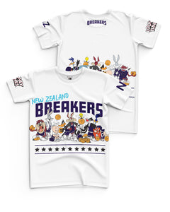 New Zealand Breakers 20/21 Looney Tunes Youth Squad Tee - Personalised