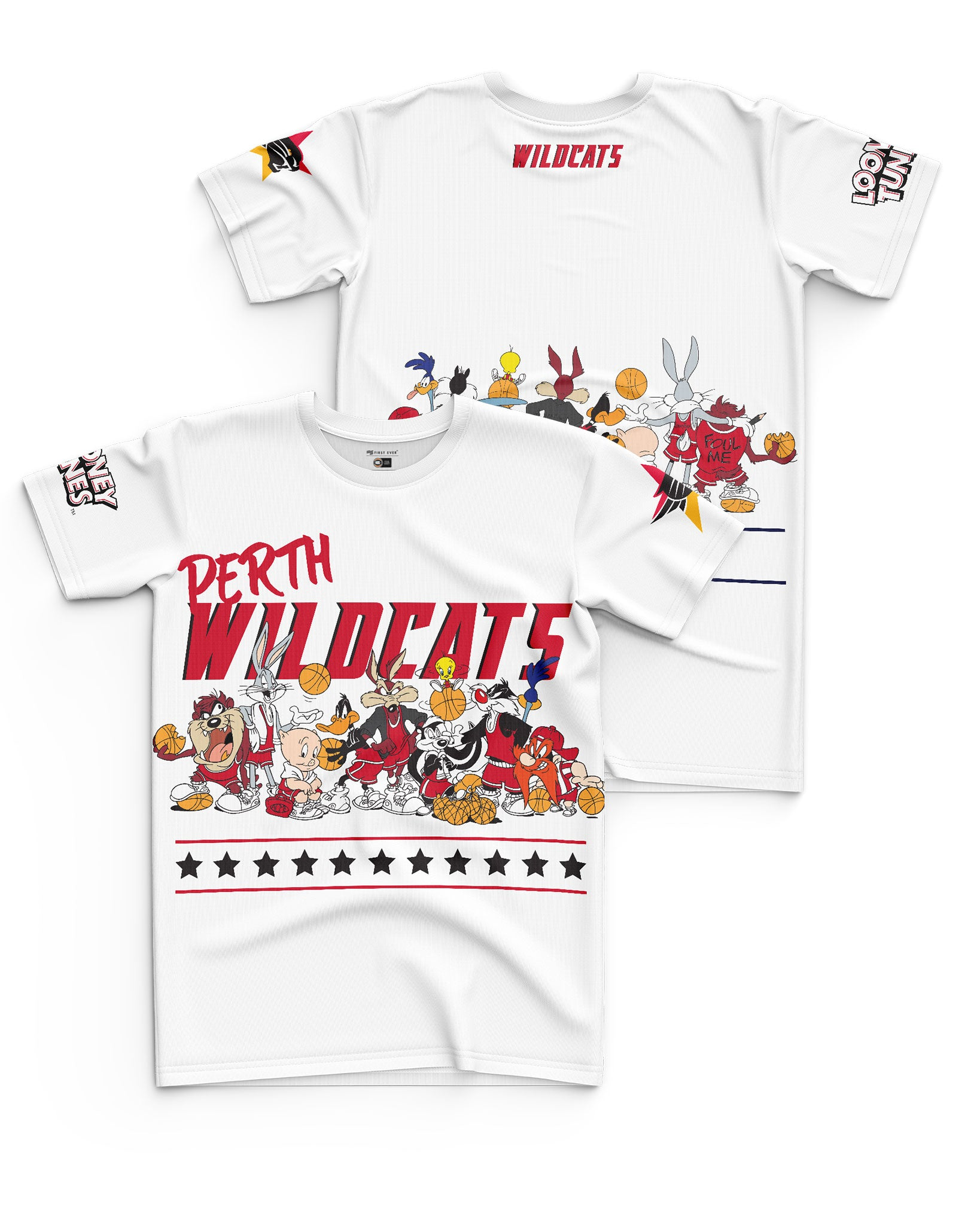 Perth Wildcats 20/21 Looney Tunes Youth Squad Tee - Personalised