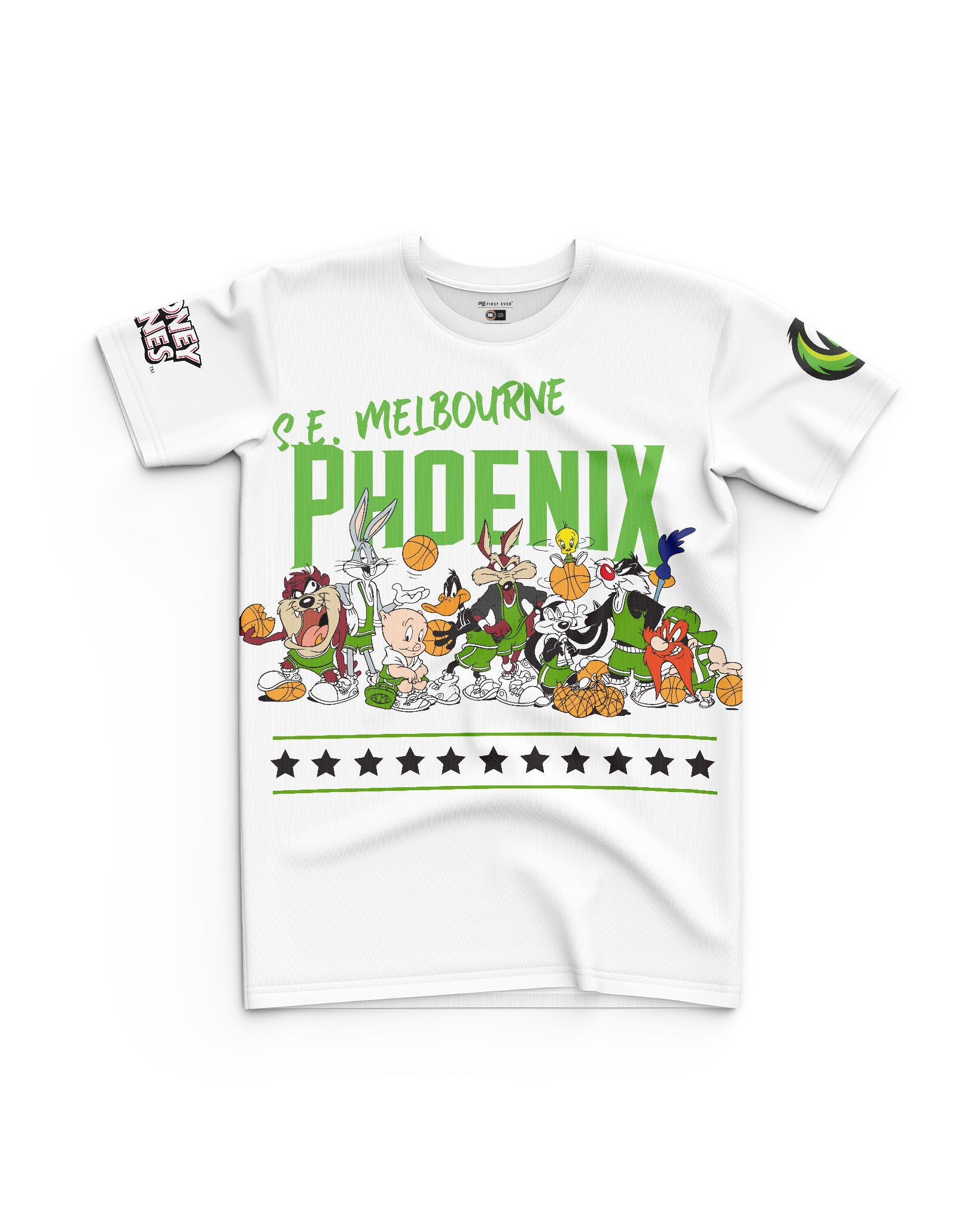 S.E. Melbourne Phoenix 20/21 Looney Tunes Youth Squad Tee - Personalised