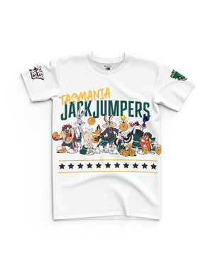 Tasmania JackJumpers 20/21 Looney Tunes Youth Squad Tee - Personalised
