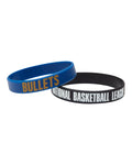 Brisbane Bullets 19/20 Official NBL Silicone Wristband Set