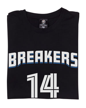 New Zealand Breakers 19/20 Name & Number Tee - RJ Hampton