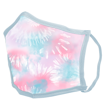 Tie Dye Cotton Candy Face Mask