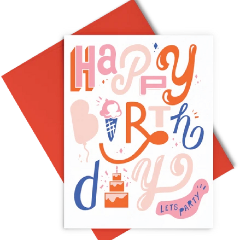 Happy Birthday - Letterpress Card