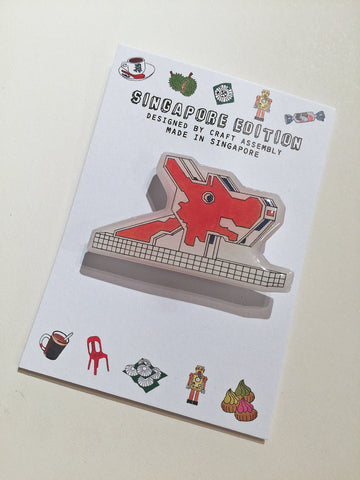 Singapore Themed Brooch - Dragon Playground