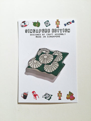 Singapore Themed Brooch - Kueh Tutu